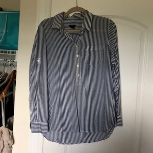 J. Crew Voile Popover with collar